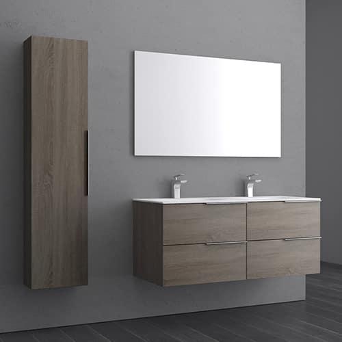Rénovation meuble double vasque salle de bain moderne