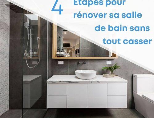 4 étapes pour rénover sa salle de bain sans tout casser