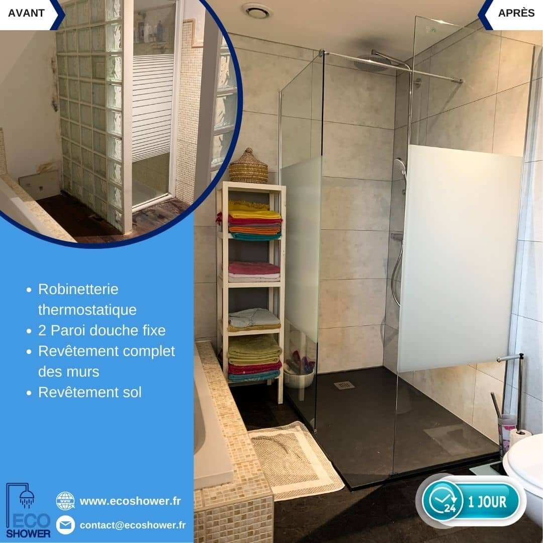 douche moderne_renovation salle de bain complete