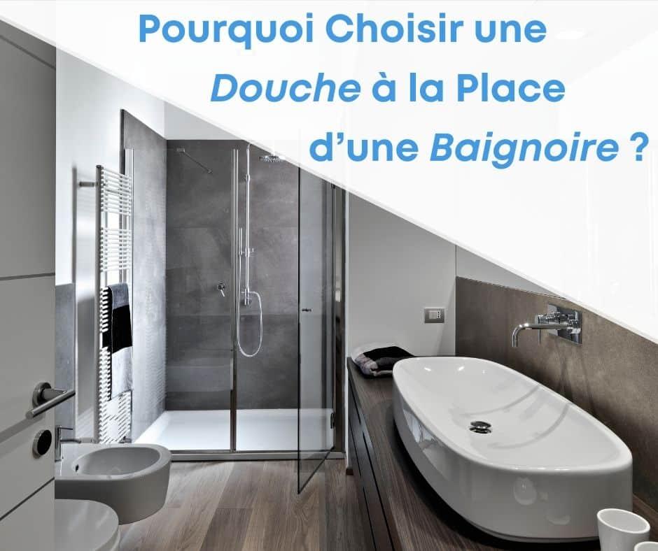 remplacer baignoire par une douche moderne