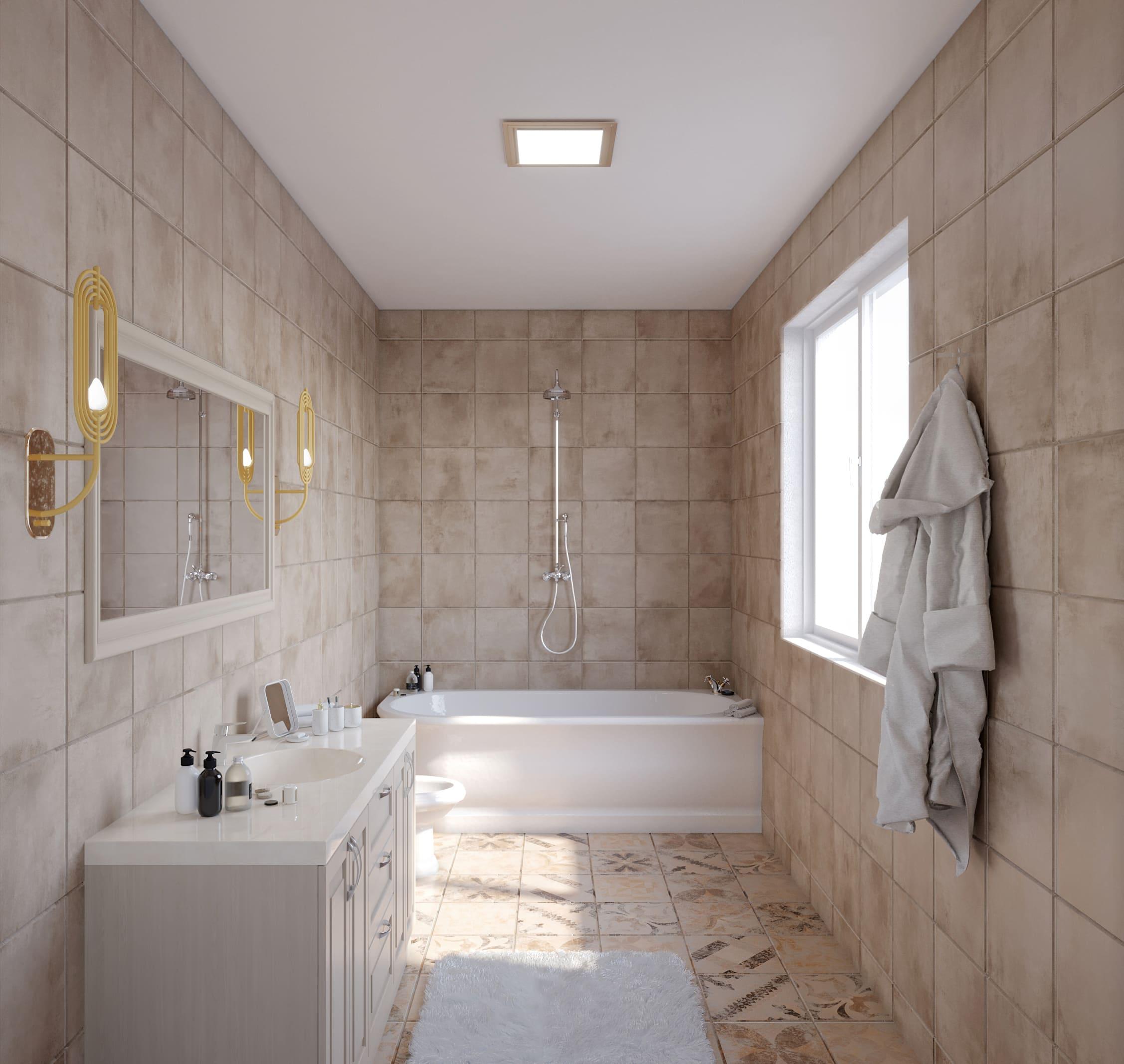 Salle de bain Avant ecoshower_douche senior