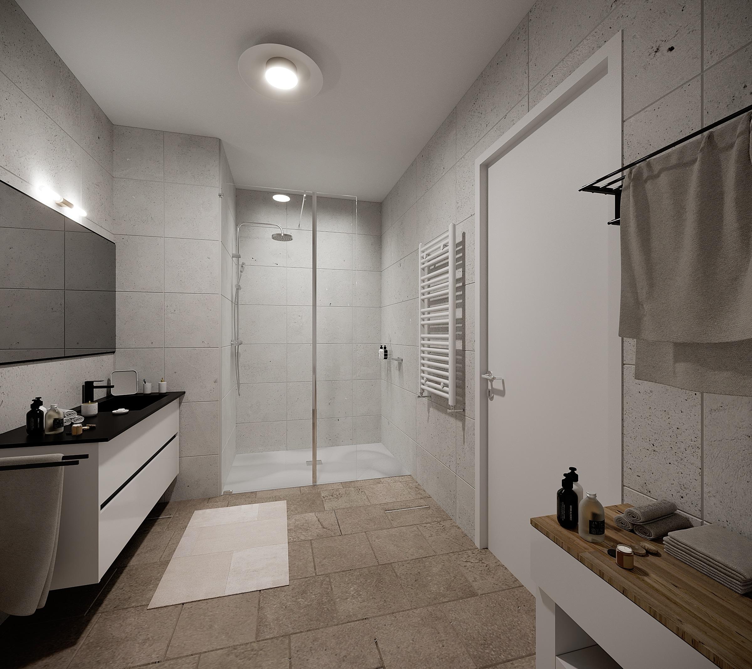 Salle de bain ecoshower douche moderne