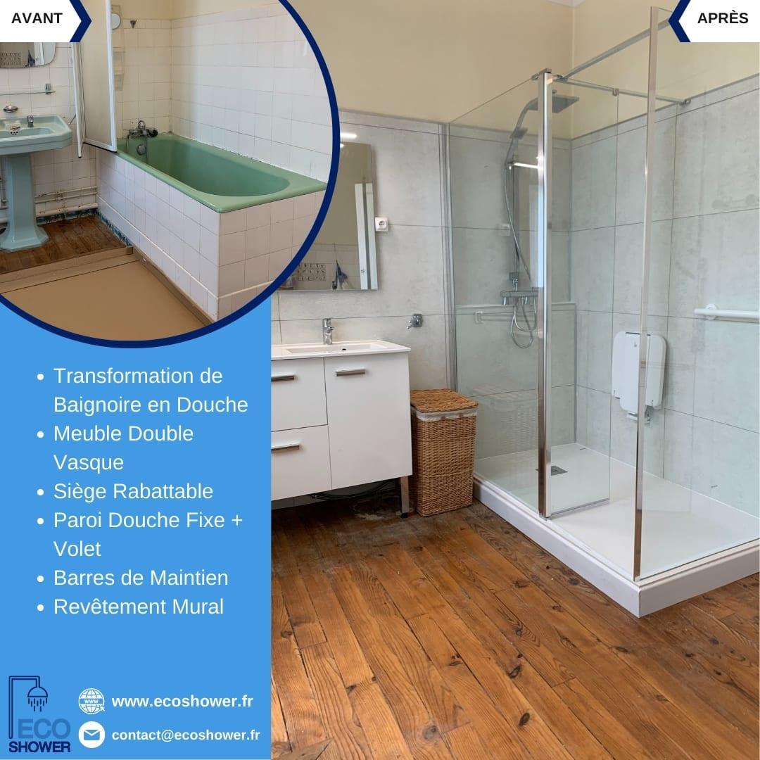Renovation salle de bain Ecoshower